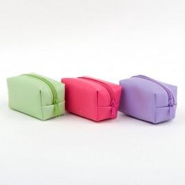 Monedero cremallera verde/lila/fucsia 7x4x4cm. min.6 P.GOLOS