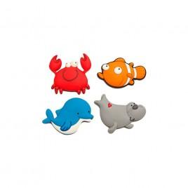 Imán pez/cangrejo/delfín/foca 5cm. min.4