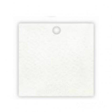 Tarjeta blanca agujero 4x4cm.(preciox35u), min.35