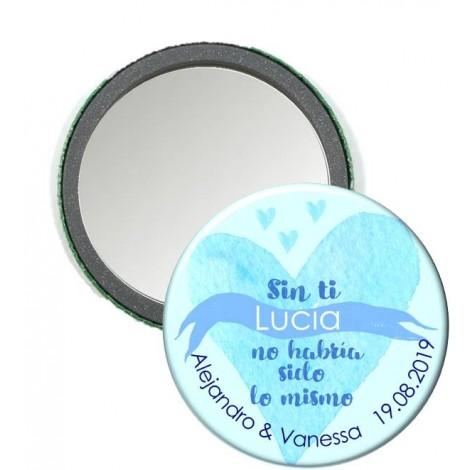 Espejos personalizados Corazon Boda