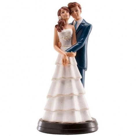 Figura pareja novios pastel