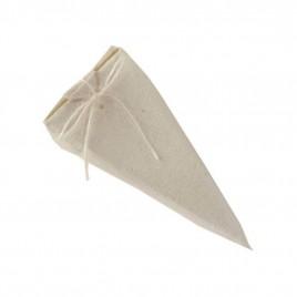 Caja-pirámide 11cm. marfil con 4 bombones*