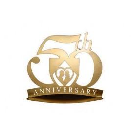 Figura Pastel Metalica 50 Aniversario
