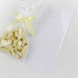Bolsas osito blanco 12x25cm 100uds