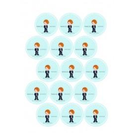 Hoja 15 Pegatinas Personalizadas Comunion Niño