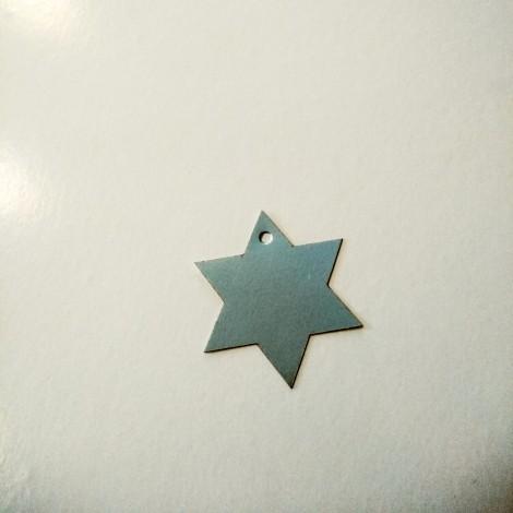 Etiqueta estrella plateada