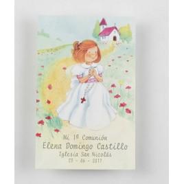 Estampa niña Comunión rosario preciox25u., min.25