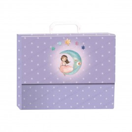Pack libro de firmas con maletín Niña con luna
