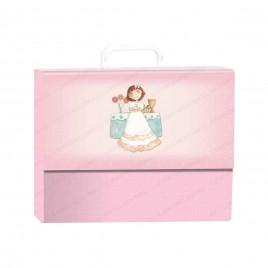 Pack libro de firmas con maletín Niña en altar