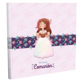 Libro firmas niña con biblia