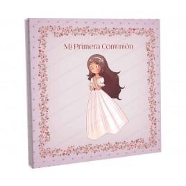 Libro firmas niña rezando