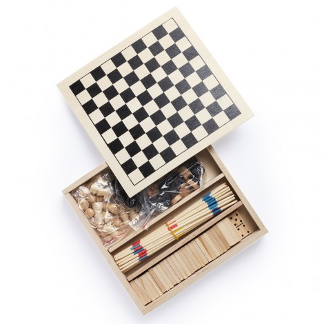 Set 4 juegos madera
