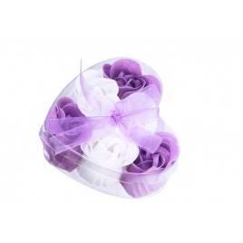 Corazón flores jabón presentacion regalo