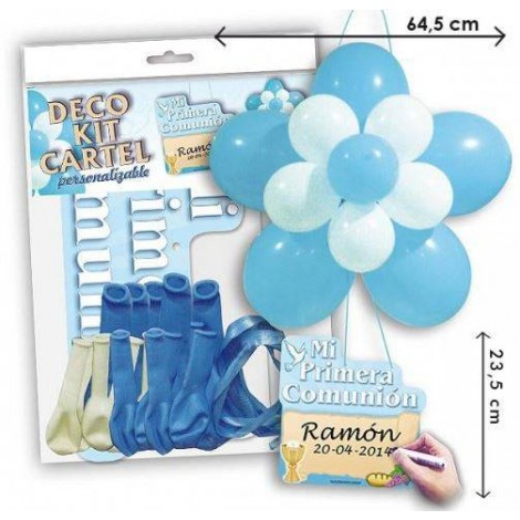 Kit Globos Comunion niño