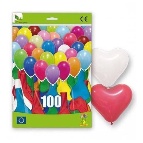 100 Globos Corazon XL