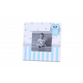 Portafotos Cuadrado Buho Azul