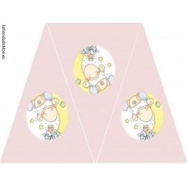 Banderines Bebé Rosa