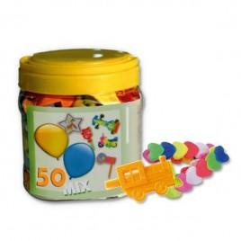 Bote 25 globos y juguetes