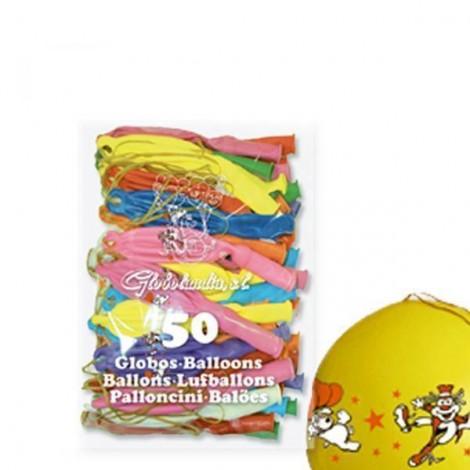 50 Globos Balones con goma