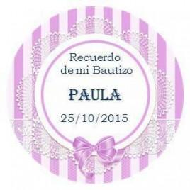 Etiquetas Bautizo Redondas
