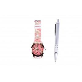 Reloj Floral + Bolígrafo
