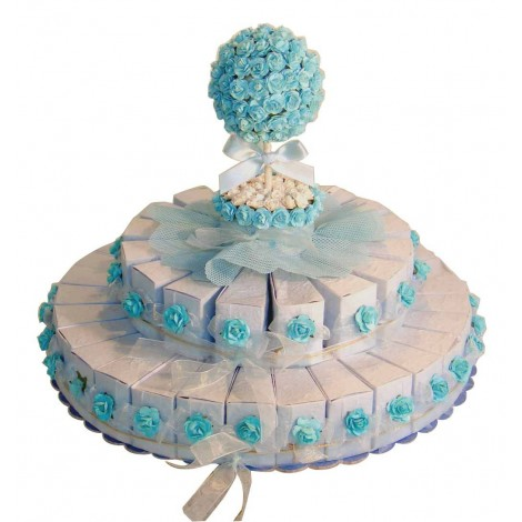 Expositor Tarta Azul
