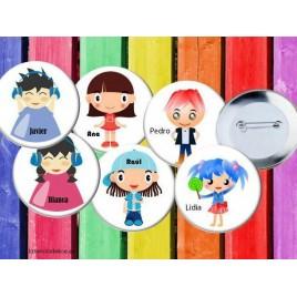 Chapas personalizadas niños