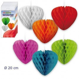 Pack 12 Bolas abeja corazon