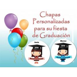 Chapas personalizadas Graduados