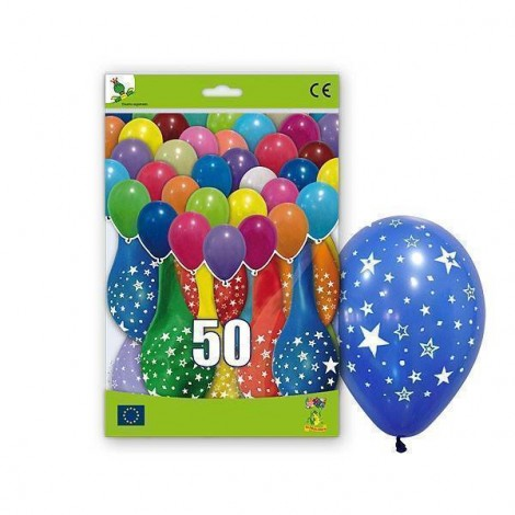 50 Globos con Estrellas