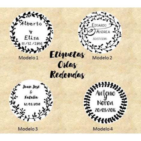Etiquetas Orlas Redondas