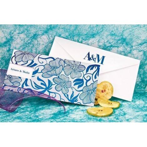 Invitacion boda elegant azul