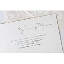 Impresion invitacion boda elegant floral