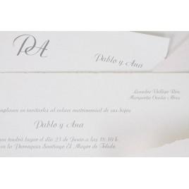 Invitacion boda Clasica