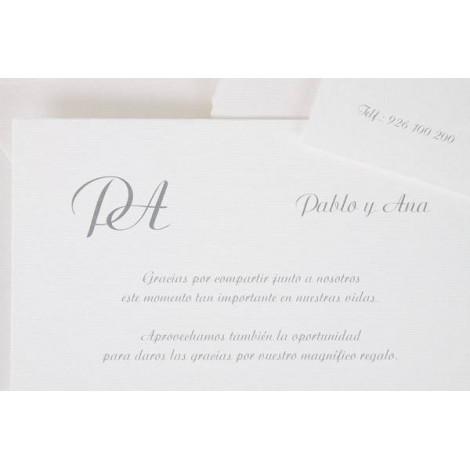 Impresion invitacion boda clasica
