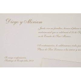 Invitacion boda Clasica crema