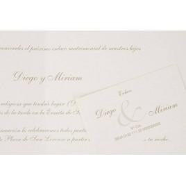 Invitacion boda Tarjeta crema