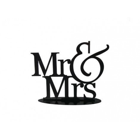 Figura Pastel Metalica Mr y Mrs