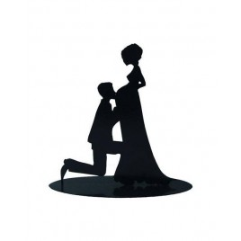 Figura Pastel Metalica Novia Embarazada