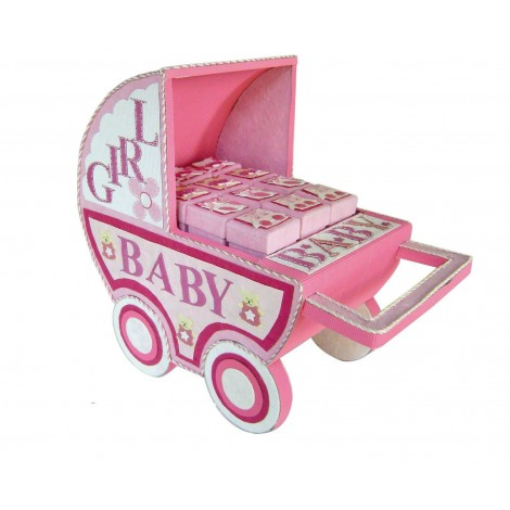 Expositor carro Baby Rosa