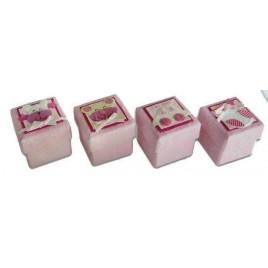 Set 24 cajitas Baby rosa