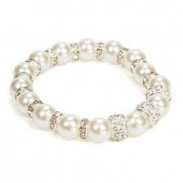 Pulsera Perlas Blanca