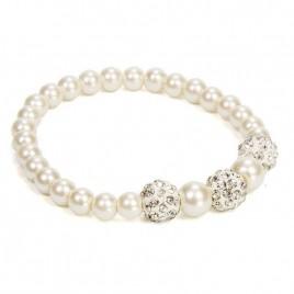 Pulsera perlas nacarada cajita regalo