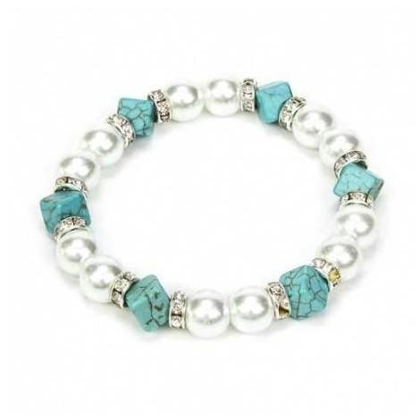Pulsera perlas mujer cajita regalo