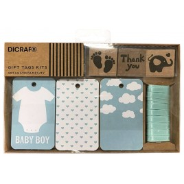Kit tarjetas y sellos baby boy
