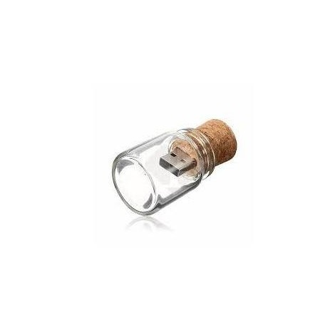 USB BOTE CRISTAL CORCHO RETRO