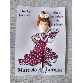 Alfiler Muñeca Modelo 1 con Tarjeta