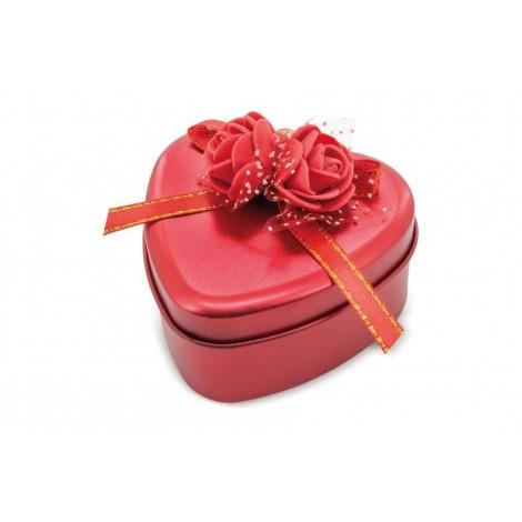 Caja Corazón Metálica