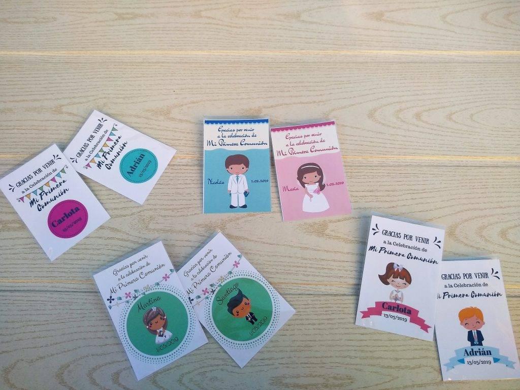 tarjetas personalizadas comuniones